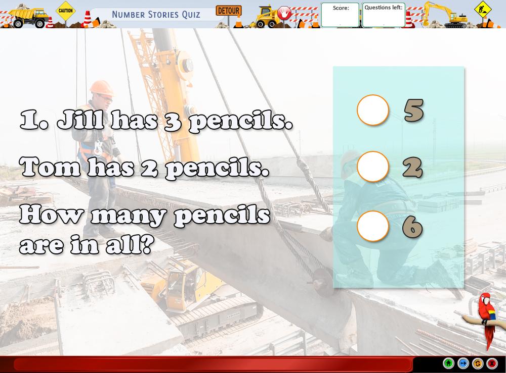 Number Story Quiz