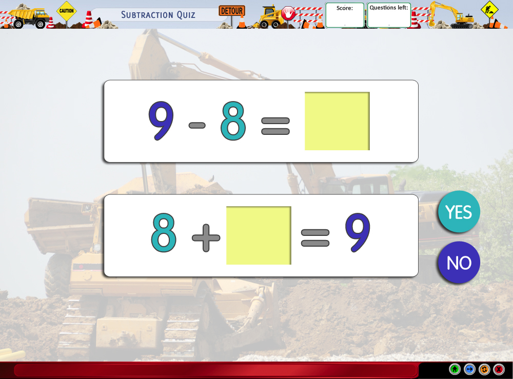 Subtraction Quiz